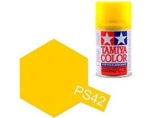Tamiya Bomboletta Spray PS42 TRANSLUCENT YELLOW Color Per Policarbonato