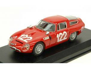 Best Model BT9649 ALFA ROMEO TZ1 N.122 28th TARGA FLORIO 1966 LO PICCOLO-SUTERA 1:43 Modellino