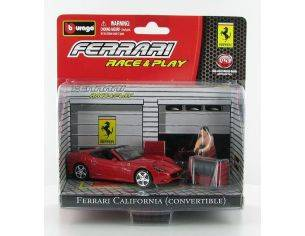 Bburago 31100-18 Race & Play Ferrari California Convertible 1:43 Die Cast Modellino