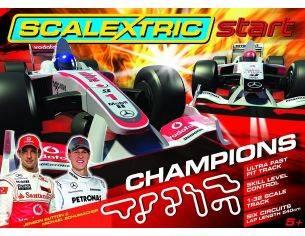 Pista Scalextric C1267 - Set gara, Champions, Button Schumacher Scala 1:32 Modellino