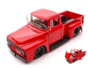 Jada JADA90484R FORD F100 1956 PICK UP RED 1:24 Modellino
