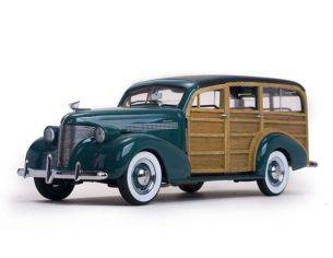 SunStar SS6171 CHEVROLET WOODY STATION WAGON 1939 WOODY/YOSEMITE GREEN 1:18 Modellino