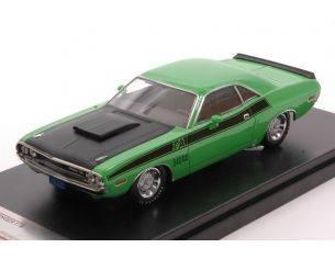 Protar PRXD407 DODGE CHALLENGER T/A 1970 GREEN/BLACK 1:43 Modellino