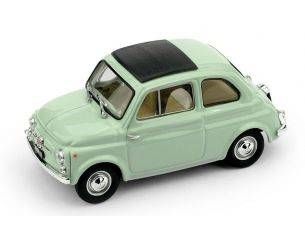 Brumm BM0405-13 FIAT 500D CHIUSA 1960-1965 VERDE CHIARO INTERNO BEIGE-AVORIO 1:43 Modellino