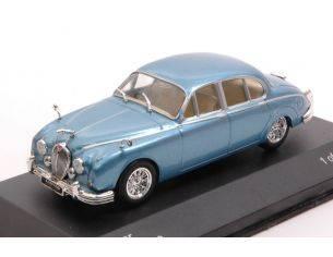 White Box WB201 JAGUAR MK II 1960 METALLIC BLUE 1:43 Modellino