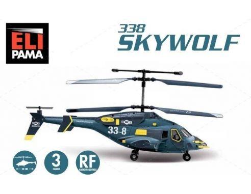 Elipama Elicottero R/C Sky Wolf Pama Trade EP338 Modellino SCATOLA ROVINATA