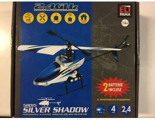Elipama 58015 Elicottero Radiocomandato Silver Shadow 2.4 GHz Modellino