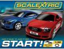 Scalextric C1203 Pista Elettrica Start Audi TT Red&Blue 1/32 RADIOCOMANDO