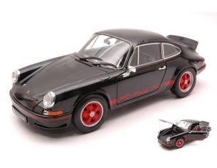 Welly WE18044BK PORSCHE 911 CARRERA RS 1973 BLACK/RED 1:18 Modellino