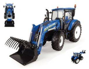 Universal Hobbies UH4958 NEW HOLLAND T5.120 WITH FRONTLOADER 1:32 Modellino