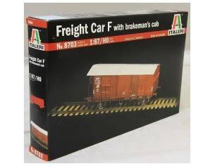 Italeri IT8703 Freight Car F carro FS tipo F con garitta 1:87 HO Kit Modellino