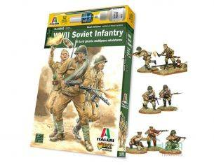 Italeri IT15602 WWII Soviet Infantry Soladati Kit 1:56 Personaggi