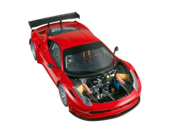 Hot Wheels Elite 2860 Mattel Ferrari 458 Italia GT2 1:18 Modellino