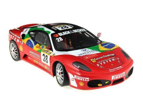 Hot Wheels Elite N2068 FERRARI  F430 CHALLANGE 28 Bruno Senna 1:18 Modellino