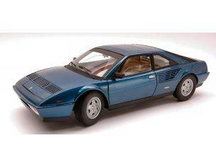 Hot Wheels Elite P9890 FERRARI MONDIAL 8 1980 BLUE METALIZZATO 1:18 Modellino