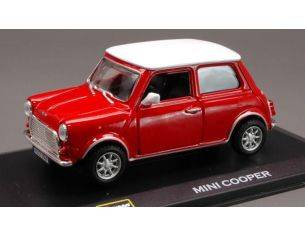 Bburago BU43210B MINI COOPER RED W/WHITE ROOF 1:32 Modellino