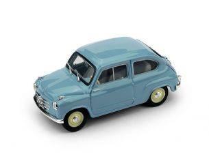 Brumm BM0247-04 FIAT 600 1a SERIE 1955 AZZURRO CENERE UPD 1:43 Modellino