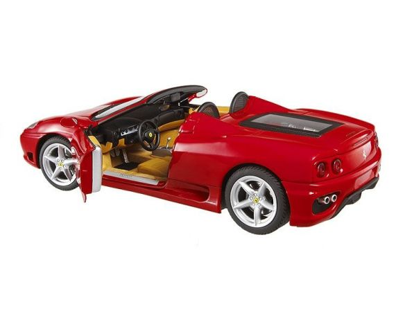 Hot Wheels Elite T9903 Ferrari 360 Spider Rossa Die Cast 1:18 Modellino
