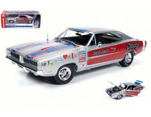 Auto World AW228 DODGE CHARGER R/T 1969 DICK LANDY 1:18 Modellino