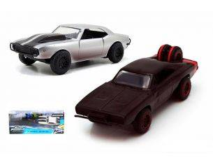 Jada JADA97163 TWIN PACK SET CHEVY CAMARO 1967 + DODGE CHARGER 1970 FAST & FURIOUS 1:32 Modellino