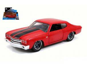 Jada JADA97380 DOM'S CHEVY CHEVELLE SS 1970 RED FAST & FURIOUS 1:32 Modellino