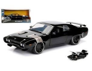 Jada JADA98292 DOM'S PLYMOUTH GTX FAST & FURIOUS 8 BLACK 1:24 Modellino