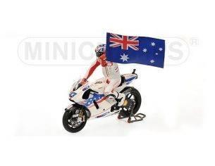 Minichamps PM122090127 DUCATI C.STONER 2009 WINNER AUSTRALIA GP W/FIGURE 1:12 Modellino