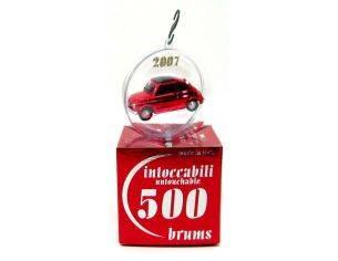 "Brumm BR004-03 Fiat 500D (1960) rosso cromo ""Babe Red"" CHRISTMAS 2007 Ball Intoccabili 1:43 Modellino"