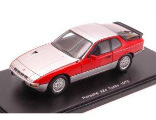 Spark Model S1376 PORSCHE 924 TURBO SILVER/RED 1:43 Modellino