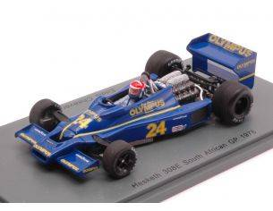 Spark Model S2237 HESKETH 308E EDDIE CHEEVER 1978 N.24 RETIRED SOUTH AFRICAN GP 1:43 Modellino