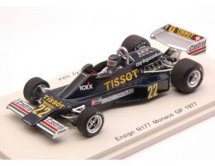 Spark Model S4813 ENSIGN N177 J.ICKX 1977 N.22 10th MONACO GP 1:43 Modellino