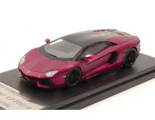 Welly WE41004P LAMBORGHINI AVENTADOR LP700-4 2013 METALLIC PURPLE 1:43 Modellino