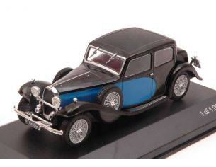 White Box WB123 BUGATTI 57 GALIBIER 1934 BLACK/BLUE 1:43 Modellino