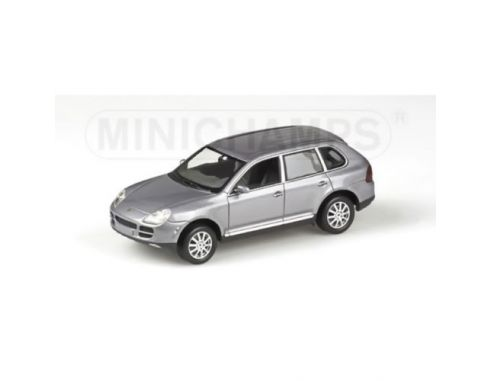 MINICHAMPS 400061010 PORSCHE CAYENNE 2003 V6 GREY METALLIC 1:43 Modellino