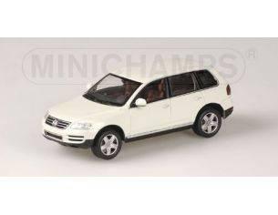 MINICHAMPS 400052001 VOLKSWAGEN TOUAREG 2003 BIANCO Modellino