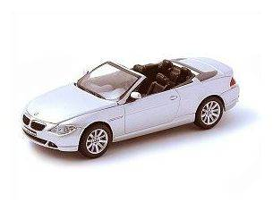 Kyosho 03512S Bmw Serie 6 Silver Convertible 2004 1:43  Modellino