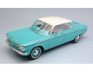 Protar PRX18009 CHEVROLET CORVAAIR SEDAN 1961 LIGHT GREEN/WHITE 1:18 Modellino