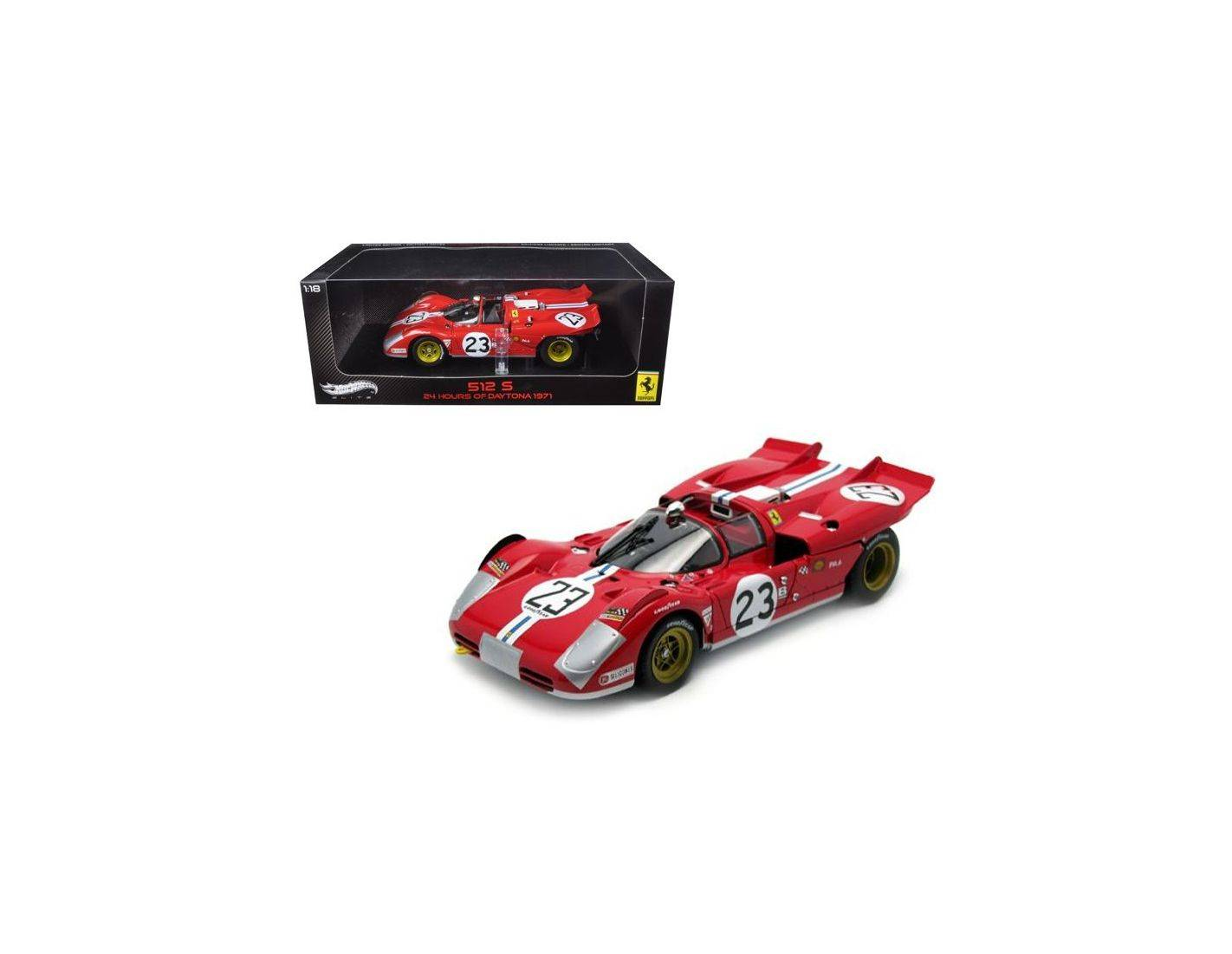 Hot Wheels Elite T6930 FERRARI 512S 24H DAYTONA 1971 1:18 Modellino