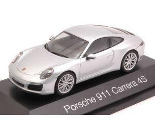 Herpa HP7105 PORSCHE 911 CARRERA 4S 2013 SILVER 1:43 Modellino