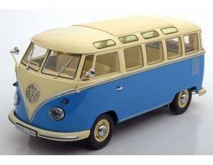 KK Scale KKDC180152 VW T1 SAMBA BUS 1959 BLUE/CREME 1:18 Modellino