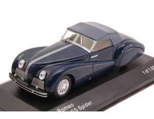 White Box WB219 ALFA ROMEO 6C 2500 SS SPIDER SOFT TOP 1942 DARK BLUE 1:43 Modellino