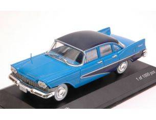 White Box WB222 PLYMOUTH SAVOY 1959 BLUE W/DARK BLUE ROOF 1:43 Modellino