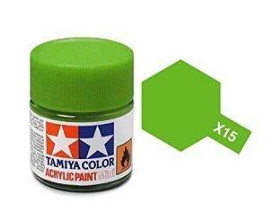 Tamiya Mini X-15 Light Green Verde Chiaro 10ml Colore Acrylic per modellismo