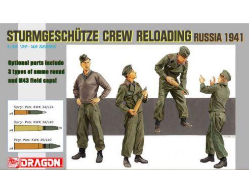 Dragon D6192 STURMGESCHUTZE CREW RELOADING RUSSIA 1941 KIT 1:35 Modellino