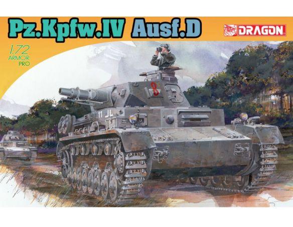 Dragon D7530 PZ.KPFW.IV AUSF D KIT 1:72 Modellino