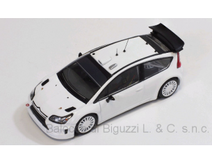 Ixo model MDCS011 CITRONE C4 WRC WHITE 2010 PLAIN BODY VERSION + 4 WHEELS 1:43 Modellino