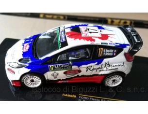 Ixo model RAM629 FORD FIESTA RS WRC N.17 RET.MONTE CARLO 2016 BOUFFIER-BELLOTTO 1:43 Modellino
