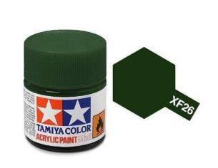 Tamiya Mini XF-5 Flat Green Verde 10ml Colore Acrylic per modellismo