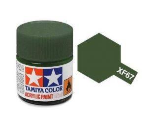 Tamiya Mini XF-67 NATO Green 10ml Colore Acrylic per modellismo