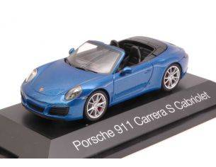 Herpa HP7099 PORSCHE 911 CARRERA S CABRIOLET 2016 METALLIC BLUE 1:43 Modellino